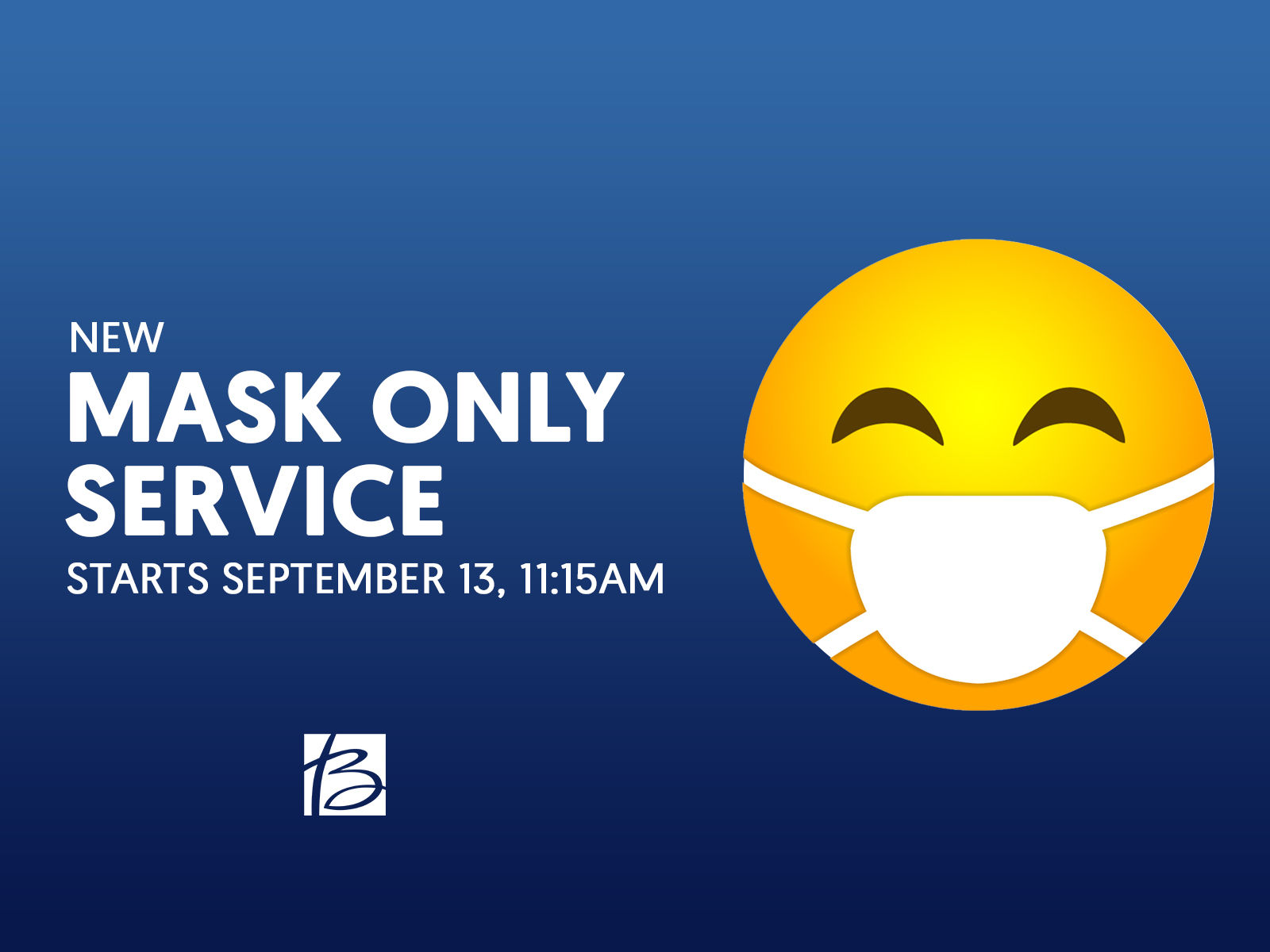 Mask Only Service with Emoji Mask Guy